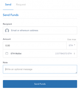 The 'Notes' field on Coinbase's send page doesn't actually send anything to the blockchain!